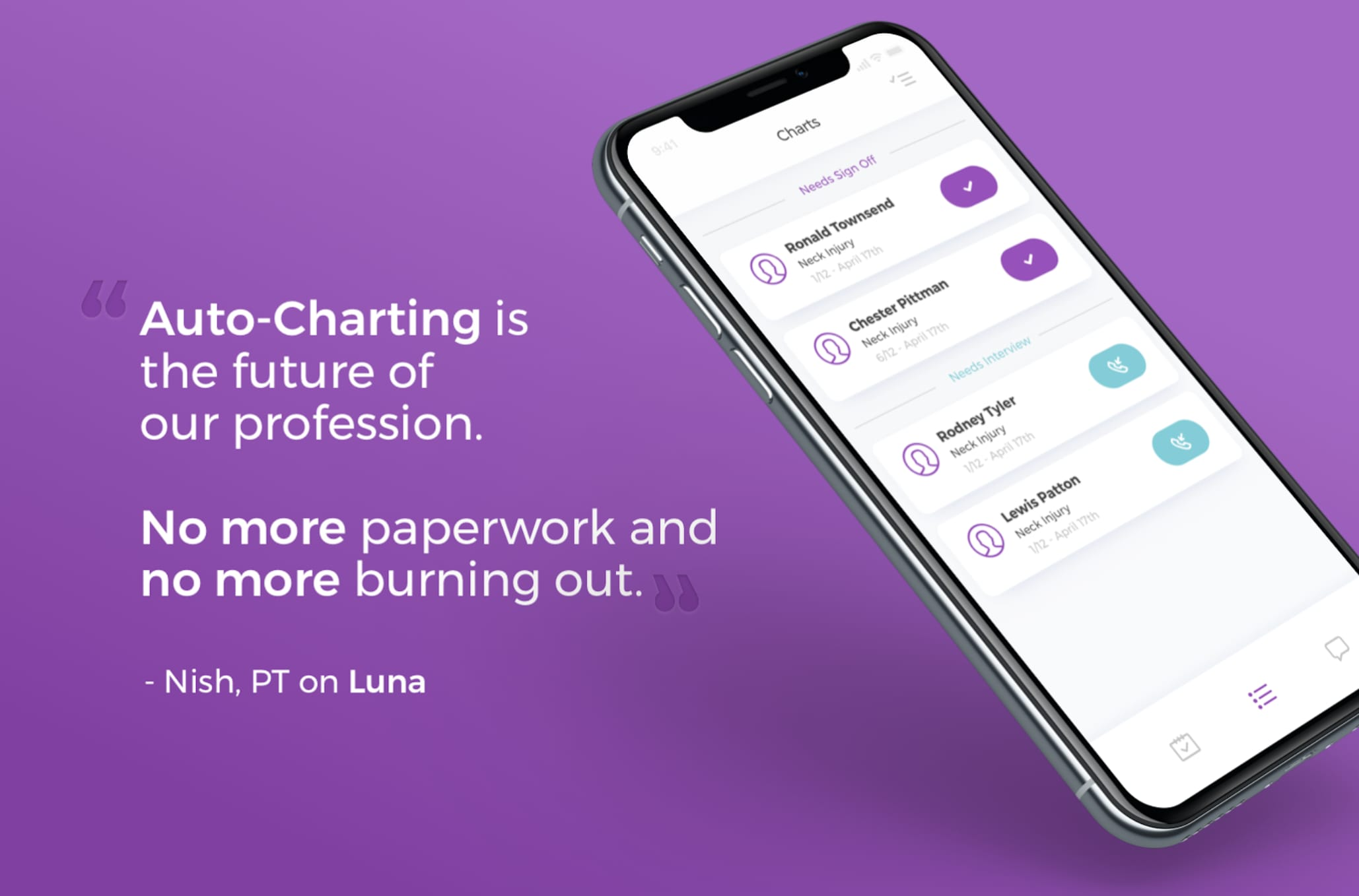 Luna PTs Love to Save Time With Auto-Charting