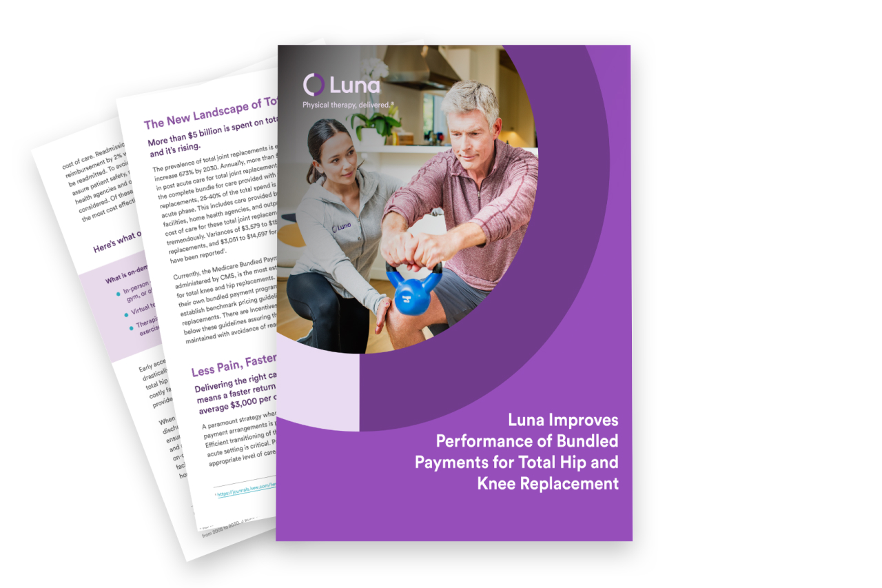 Luna Improves Performance of Bundled Payments for Total Hip and Knee Replacement